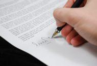 pismo, dłoń, podpis
