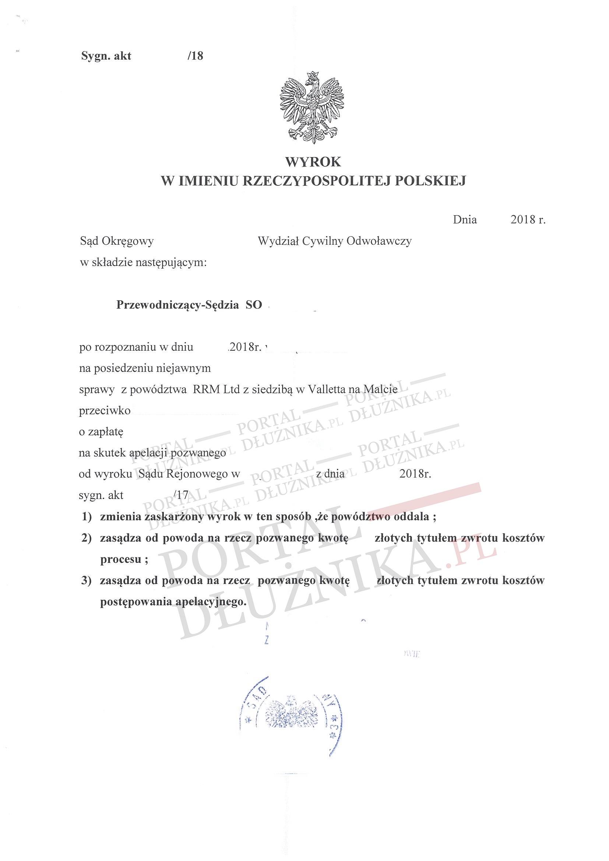 Kancelaria Prawna Exire vs RRM Limited