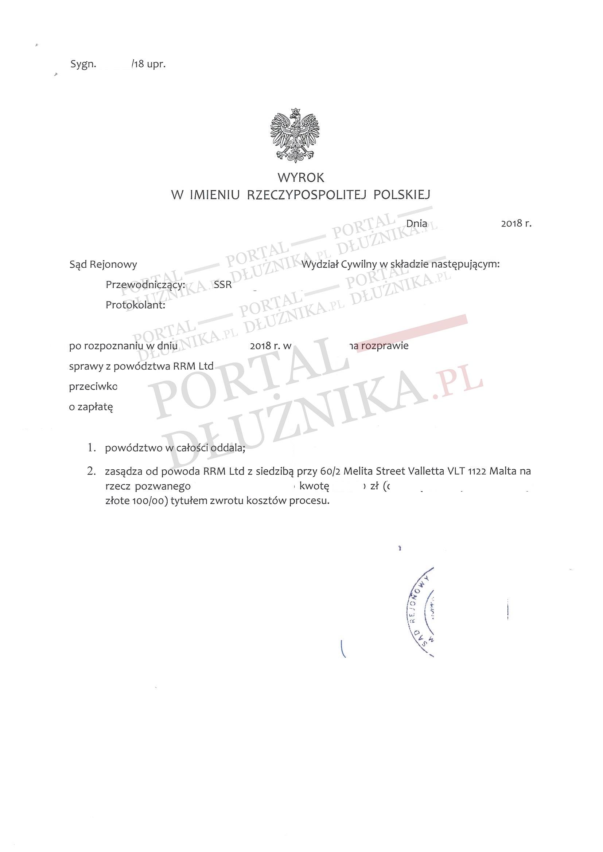 Refinansowanie chwilówki przez RRM Limited