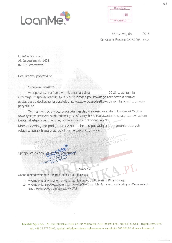 sankcja kredytu darmowego