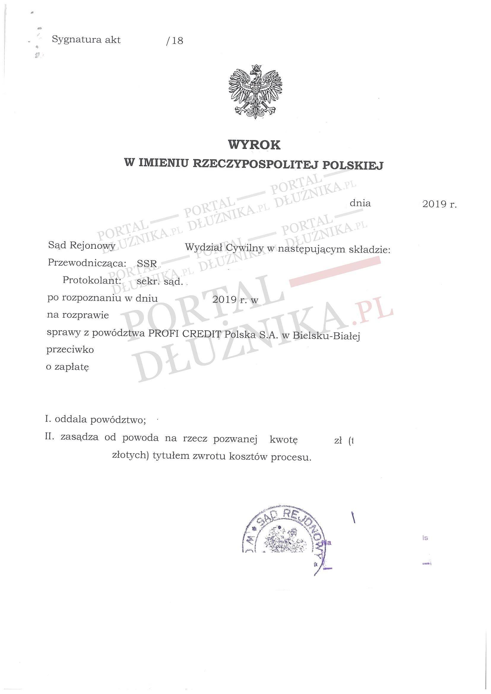 Sprawa z Profi Credit na 24000